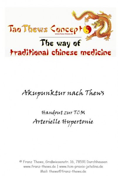 Arterielle Hypertonie in der TCM - Handout